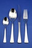 刀叉餐具集合银 免版税库存照片