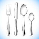 刀叉餐具集 向量例证