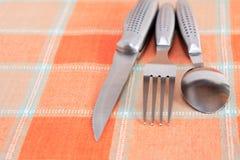 刀叉餐具集 库存照片