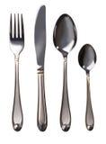 刀叉餐具集 图库摄影
