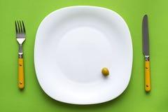 刀叉餐具饮食食物牌照 图库摄影