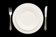 刀叉餐具饮食食物牌照 免版税库存图片