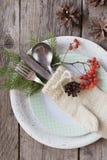 刀叉餐具 圣诞节装饰装饰新家庭想法 库存照片