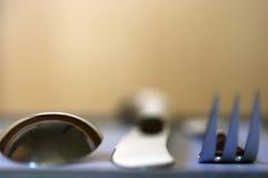 刀叉餐具 库存照片