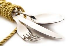 刀叉餐具 图库摄影