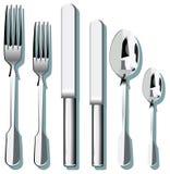 刀叉餐具 皇族释放例证