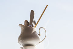 刀叉餐具 免版税图库摄影