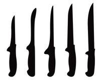 刀子剪影 向量例证
