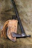 刀子印第安战斧 库存照片