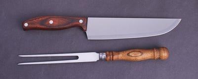 刀子和叉子 库存照片