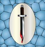 刀子和血液 免版税库存照片