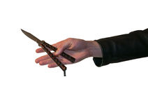 刀子在手中 图库摄影