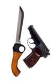 刀子手枪 免版税库存照片