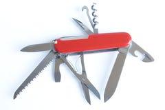 刀子红色瑞士 库存图片