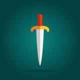 刀子锋利的刀片标志 向量例证