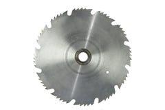 刀片圆的查出的生锈的锯 免版税库存照片