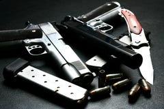 刀片手枪 库存图片