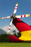 刀片直升机涡轮 库存图片