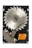 刀片磁盘驱动器坚硬锯 图库摄影