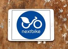 分享商标的Nextbike自行车 库存照片