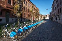 分享在哥特人,瑞典的自行车 免版税图库摄影