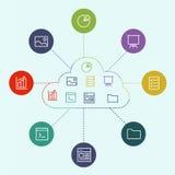 分享工作文件和参考资料 免版税库存照片