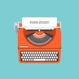 分享您的故事平的例证 库存图片
