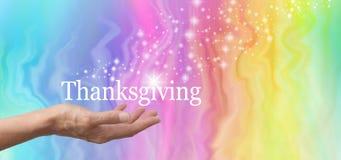 分享您的闪闪发光在感恩 免版税库存图片