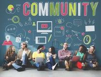 分享通信属于的概念的公共社会 向量例证