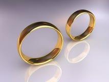 分别地婚姻的环形 库存照片