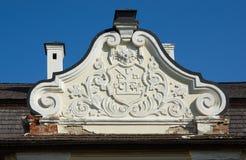 分割司令官房子入一个堡垒在巴图林乌克兰 免版税库存图片