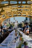 分叉的第4个每年农场塔桥梁晚餐10 免版税库存照片