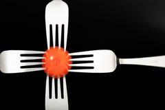 分叉红色蔬菜 图库摄影