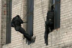 细分反暴力恐怖份子的警察 库存图片