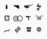 组分和辅助部件自行车的 免版税库存照片