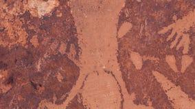 分娩场面刻在岩石上的文字平底锅在默阿布犹他 股票录像