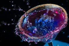 分子五颜六色的鸡尾酒 免版税库存照片
