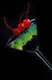 分子五颜六色的鸡尾酒 库存图片