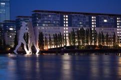分子人, Treptow,柏林,德国 免版税库存图片