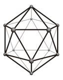 分子克里斯特尔结构  库存图片