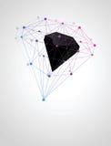 分子化合物抽象几何形状  免版税库存图片