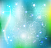 分子墙纸 向量例证
