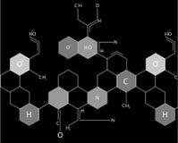 分子抽象图象 免版税库存图片