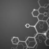 分子抽象背景。 免版税库存照片