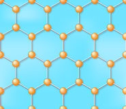 分子无缝的传染媒介背景,样式 库存照片