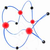 分子模式 库存照片