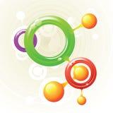 分子环形 向量例证