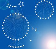 分子的增长 免版税库存图片
