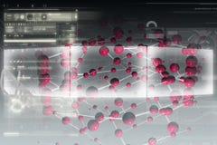 分子的背景 免版税图库摄影