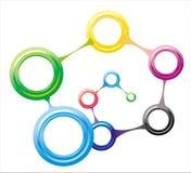 分子的连接数 免版税库存图片